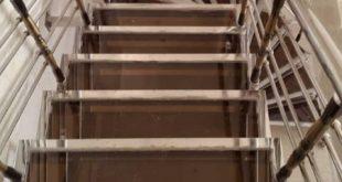 نرده راه پله استیل